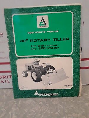 Allis Chalmers owner's manual 48 inch rotary tiller