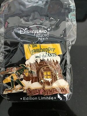 "Pins Disney (DLRP) :Pin ""Silly Symphony"" La Cigale & La Fourmi (Limitée 1200ex.)"