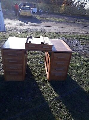 vintage wooden office desk. Open to offers