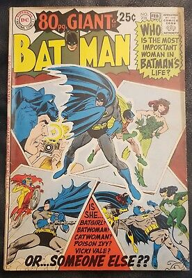 1969 DC Comics - Batman # 208 - 80 Page Giant - Very Good Condition