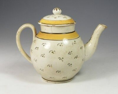 Late 18Th Century Antique Pearlware Miniature Teapot