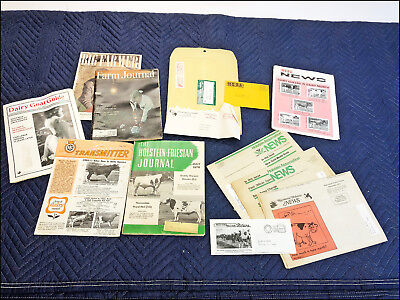 Vintage DAIRY CATTLE MAGAZINE LOT holstein news 60s 70s 80s catalog cow farmer