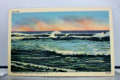 New Hampshire NH Rye Beach Greetings Postcard Old Vintage Card View Standard PC