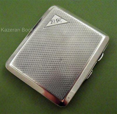 George V Art Deco Solid Silver Engine Turned Cigarette Case Joseph Gloster 1931