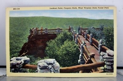 West Virginia WV State Forest Park Coopers Rock Lookout Point Postcard Old View