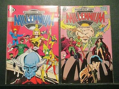 OFFICIAL MILLENNIUM ILLUSTRATED INDEX #1-2 (DC Comics Crossover Event) 1988