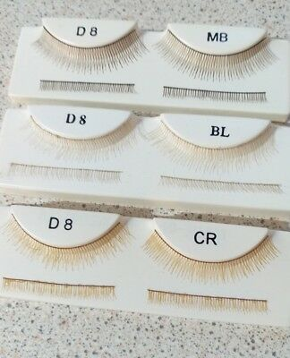 TOP & BOTTOM DOLL EYELASHES IN A VARIETY OF COLOURS Code D8