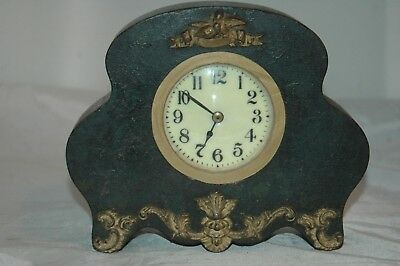 Antique French Mantle Clock Fitted With Quartz Movement.