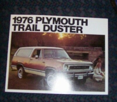 1976 Plymouth Trail Duster Sales Brochure
