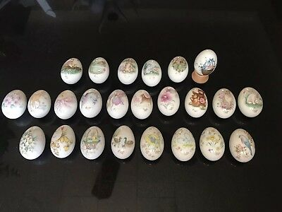 Vintage Noritake China Porcelain Easter Eggs 1972-1995
