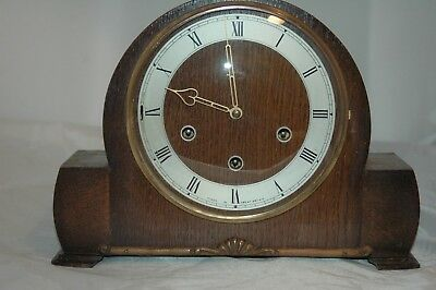 Antique Smiths Westminster Chimes Mantle Clock.