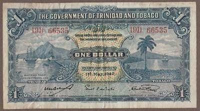 1942 Trinadad & Tobago 1 Dollar Note
