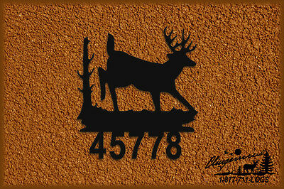 Whitetail Deer Wall Hanging - Address Sign