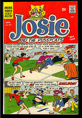Josie and the Pussycats #47 Nice Dan DeCarlo 3rd App. Archie Comic 1970 VG-FN