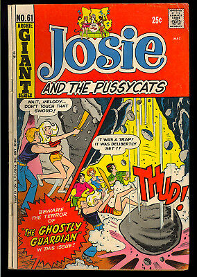 Josie and the Pussycats #61 thru 65 GROUP (5 Comics) Archie 1972 FN