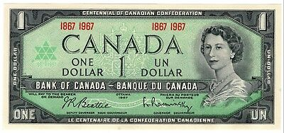 1967 Bank Of Canada One 1 Dollar Centennial Bank Note Nice Bill