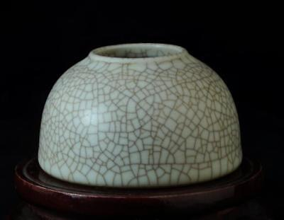 Chinese old collection ge kiln porcelain cracked glaze brush washer 02 b01