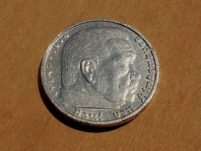 Germany 1935-J Silver 5 Reichsmark Coin KM#86