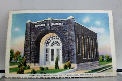 West Virginia WV Chamber of Commerce Williamson Postcard Old Vintage Card View