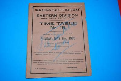 1906 Canadian Pacific Rwy Montreal Terminals ETT #18