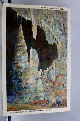 New Mexico NM Chinese Temple Carlsbad Cavern Postcard Old Vintage Card View Post