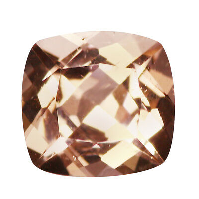 1.31Ct Pretty Cushion cut 7 x 7 mm 100% Natural Pink Morganite