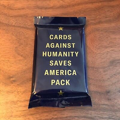 Cards Against Humanity Saves America Expansion Pack Cards New Sealed