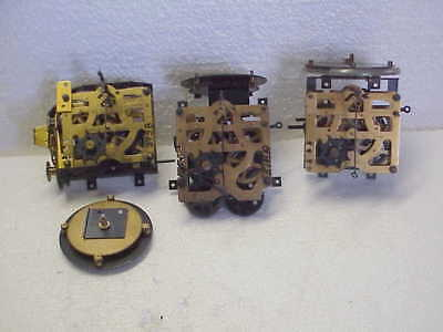 3 Used 1 Day Vintage Musical Carousel Cuckoo Clock Movements parts repair I