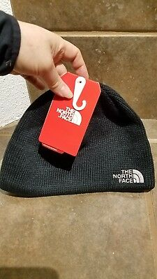 New NWT The North Face Bones Knit Black Beanie Unisex One Size