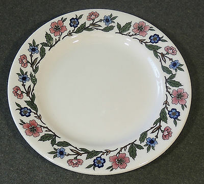 Sterling Vitrified China Restaurant Ware Floral Flower Rim Salad Plate