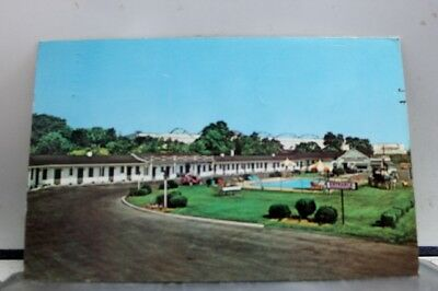 Maryland MD Colonial Motel Restaurant Hagerstown Postcard Old Vintage Card View