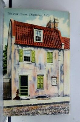 South Carolina SC Pink House Charleston Postcard Old Vintage Card View Standard