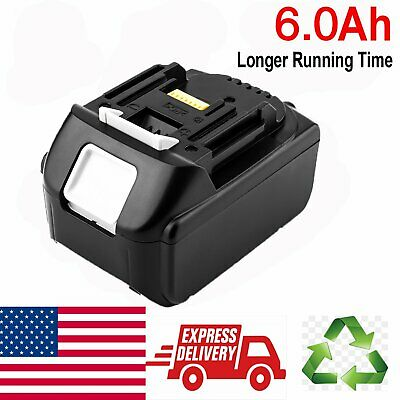 New 18V 6.0Ah 18Volt Lithium-Ion LXT-400 Battery For Makita BL1830 BL1815 BL1860