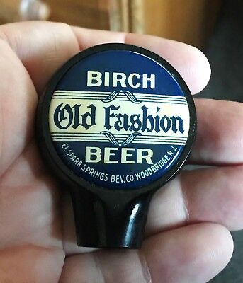 Rare Old Fashion Birch Beer Kooler Keg Ball Tap Knob Sparr Springs Woodbridge Nj