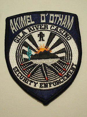 Akimel O'Otham Gila River Casino Security Enforcement Patch Arizona Tribe Tribal