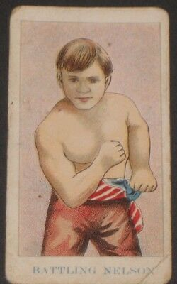 1909 American Caramel Co. Prize Fighters E75 BATTLING NELSON Boxing Card