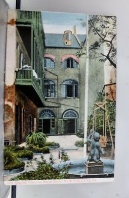 Louisiana LA Spanish Courtyard New Orleans Postcard Old Vintage Card View Post