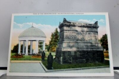 Virginia VA Unknown Soldier Tomb Arlington National Cemetery Postcard Old View