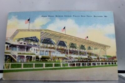 Maryland MD Pimlico Race Track Baltimore Postcard Old Vintage Card View Standard