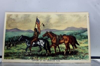 Art Capture of The American Flag Postcard Old Vintage Card View Standard Post PC