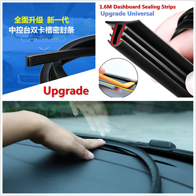 Rubber 1.6m Soundproof Dustproof Sealing Strip for Auto Car Dashboard Consoles
