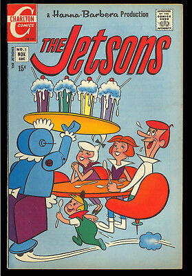The Jetsons #1 Nice First Issue Hanna-Barbera Charlton TV Comic 1970 VG-FN