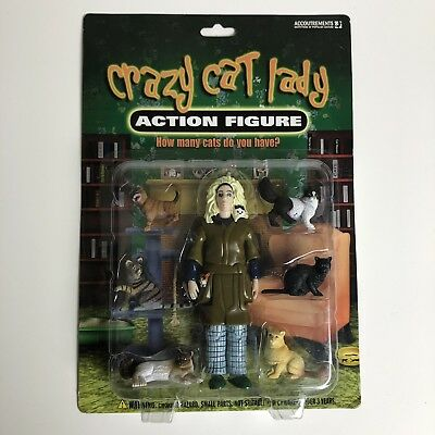 Crazy Cat Lady Action Figure with Cats by Accoutrements