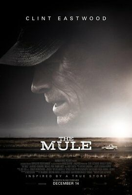 THE MULE great original 27x40 D/S movie poster CLINT EASTWOOD (s01)