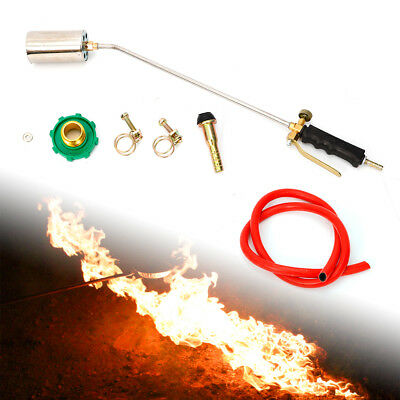 Propane Gas Blow Torch Flamethrower Burner Ignition Camping Welding BBQ Tool AU