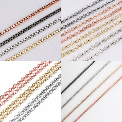 Fashion Charm Round Men Womens Necklace Thin Short Rope Chain Jewelry Party Gift