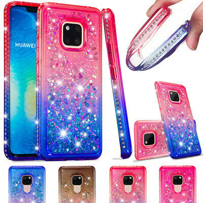 Bumper Diamond Bling Glitter Quicksand Soft Gel Bumper Case For Huawei Mate 20