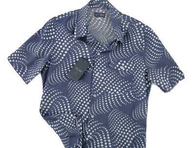 NEW Giorgio Armani Jeans Linen Shirt!  Large  Slim Fit  Short Sleeved   *Italy*