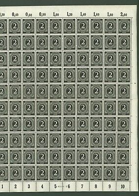 Large format K02 Germany 1946 numbered Sheet of 100v /2/