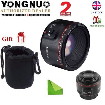 Yongnuo 50mm F1.8 II Auto Focus MF Prime Fixed Lens for Canon DSLR Camera UK
